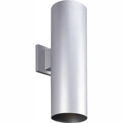 2-Light Metallic Gray Integrated LED 18 in. Outdoor Wall Mount Cylinder Light