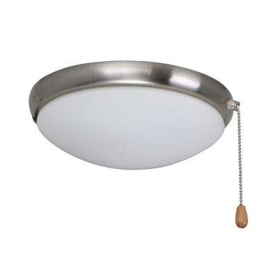Moon 2-Light Brushed Steel Ceiling Fan Light Kit