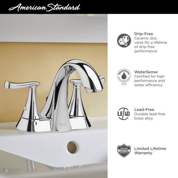 American Standard Chatfield 4 In Centerset 2 Handle Bathroom Faucet In Legacy Bronze 7413201 278 The Home Depot