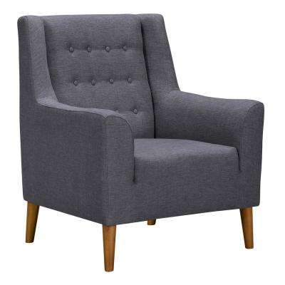 Nubia Dark Grey Fabric Accent Chair