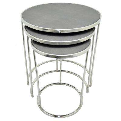 23.5 in. Gray Nesting Table (Set of 3)