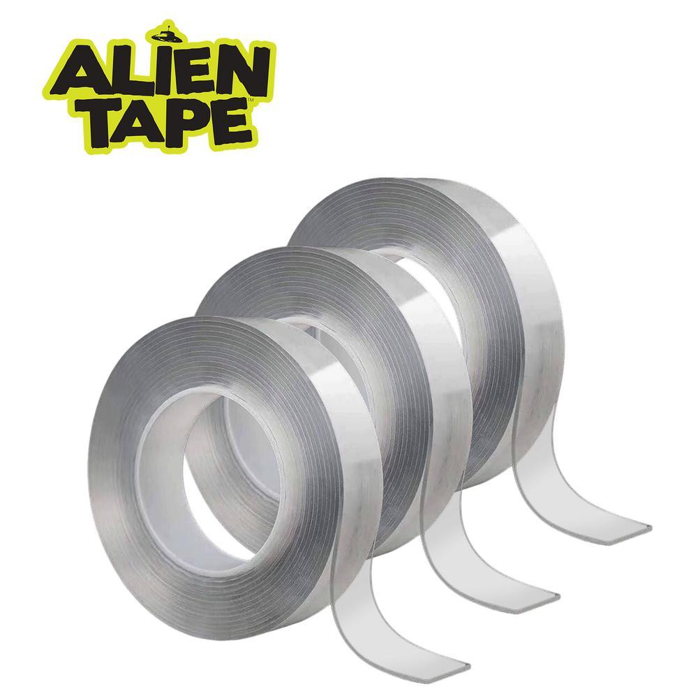 Alien Tape 10 ft. Multi-Functional Reusable Double-Sided Tape (3-Pack)