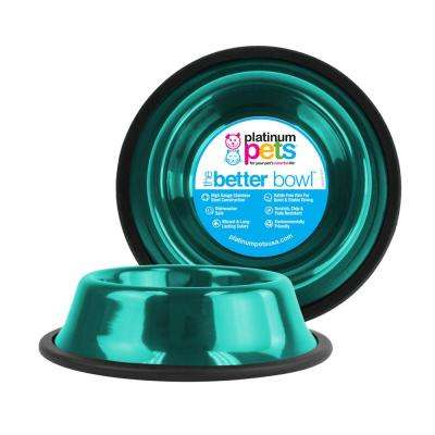 6.25 Cup Non-Tip Stainless Steel Dog Bowl, Caribbean Teal