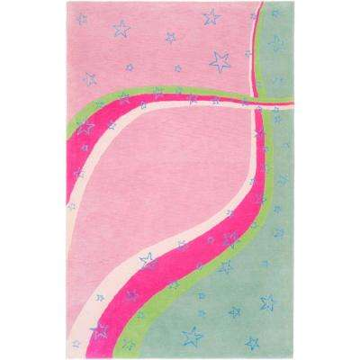 Kids Green/Pink 8 ft. x 10 ft. Area Rug