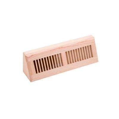 4.5 in. x 15 in. Wood Red Oak Unfinished Base Board Diffuser