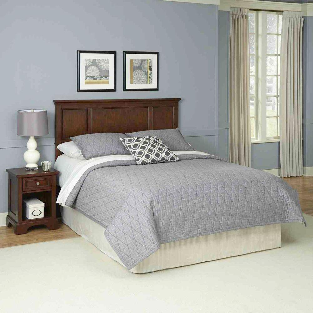 Home Styles Chesapeake 2-Piece Cherry (Red) Queen Bedroom...