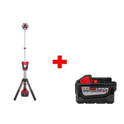 M18 18-Volt Lithium-Ion Cordless Rocket LED Stand Light/Charger with Free 9.0Ah Battery