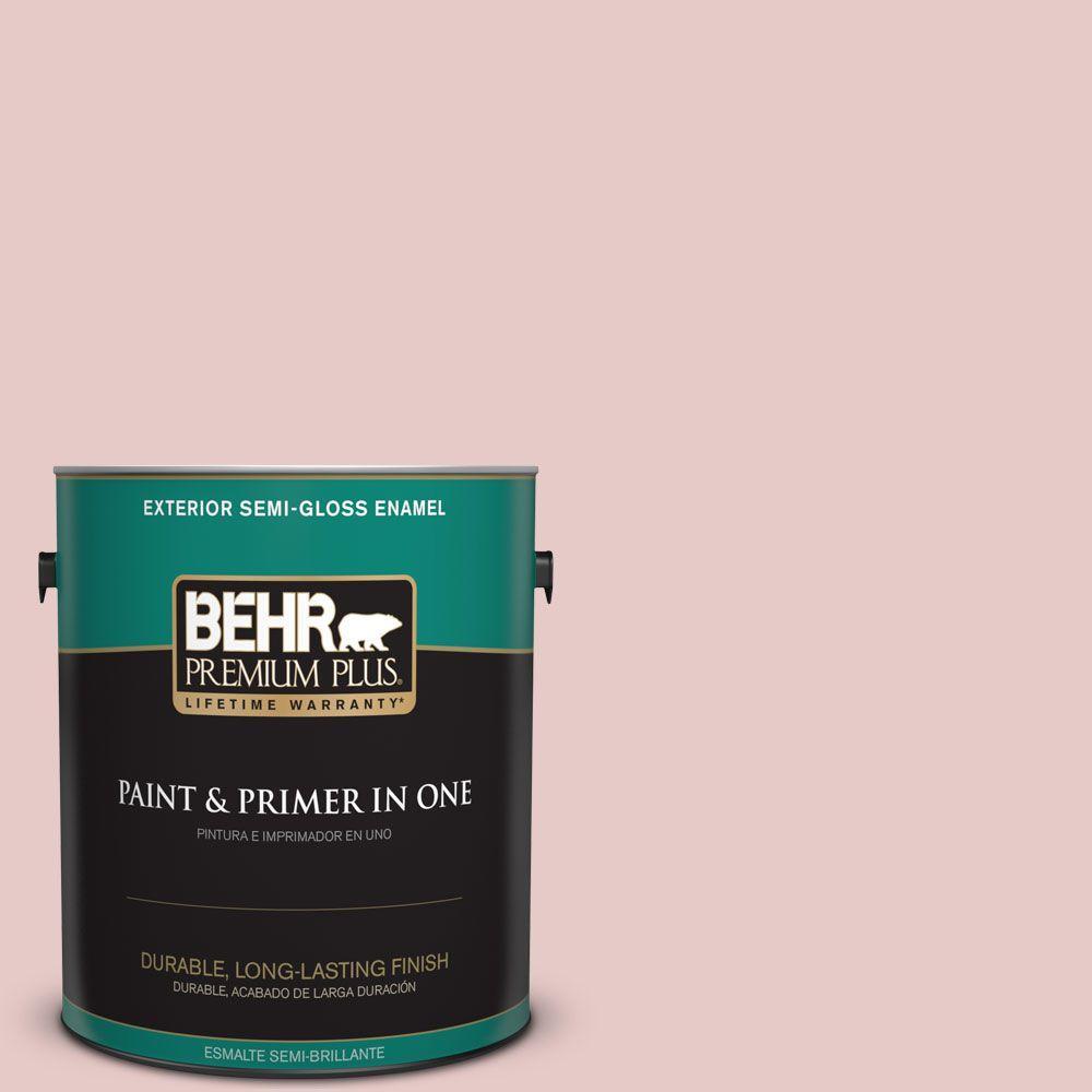 1-gal. #170E-2 Blush Beige Semi-Gloss Enamel Exterior Paint