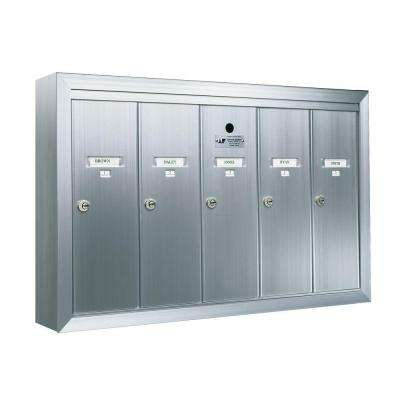 1250 Vertical 5-Compartment Aluminum Surface-Mount Mailbox