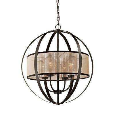 Diffusion 4-Light Oil Rubbed Bronze LED Chandelier