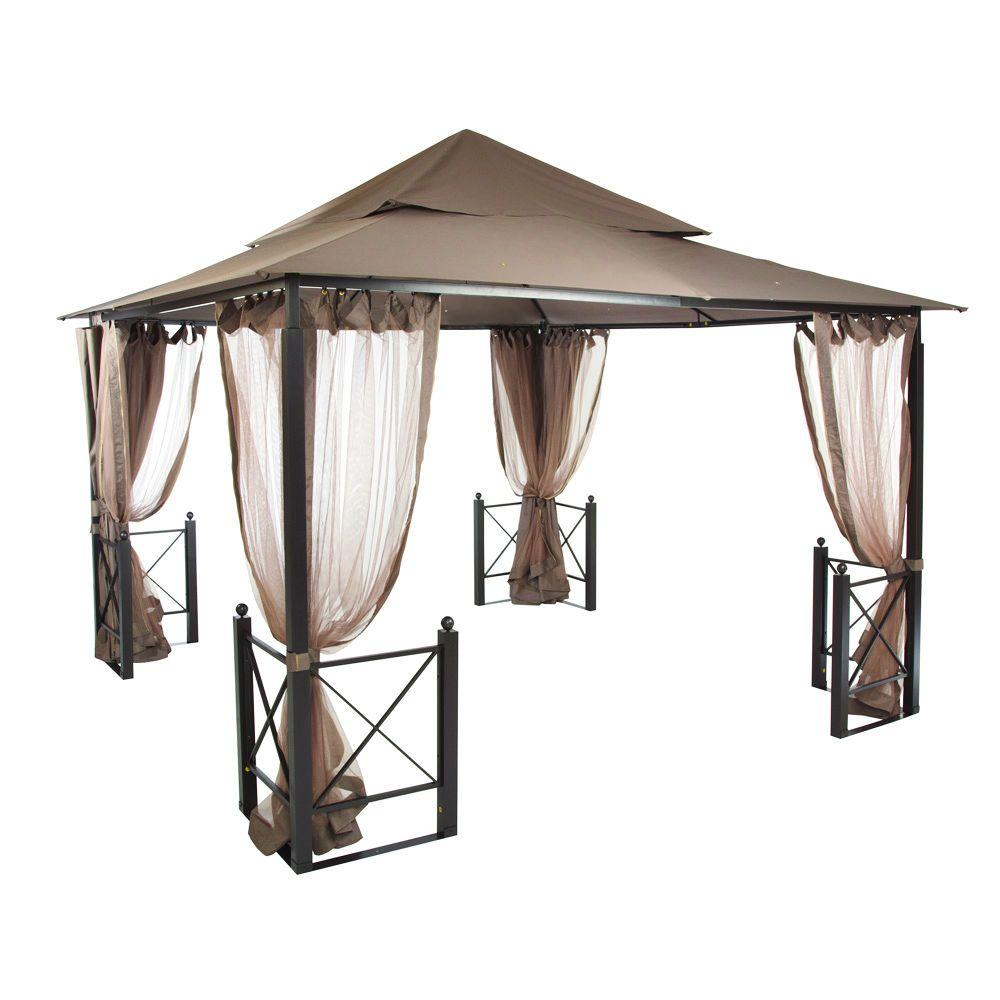 Hampton Bay 12 Ft X 12 Ft Harbor Gazebo Gfs01250a The Home Depot