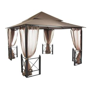 hampton bay 12 ft x 12 ft harbor gazebo gfs01250a the home depot. Black Bedroom Furniture Sets. Home Design Ideas