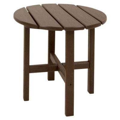 Classics 18 in. Mahogany Round Patio Side Table