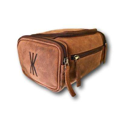Top-Handle and Multi-Purpose Leather Toiletry Bag