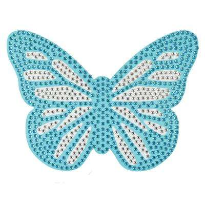 Blue Glitter Fly Bling Art Wall Decal (Set of 2)