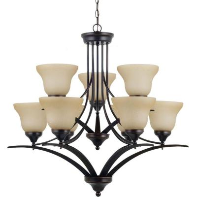 Brockton 9-Light Burnt Sienna Chandelier