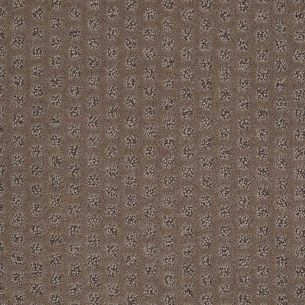Carpet Sample - Crown - In Color Deer Tracks Pattern 8 in. x 8 in.