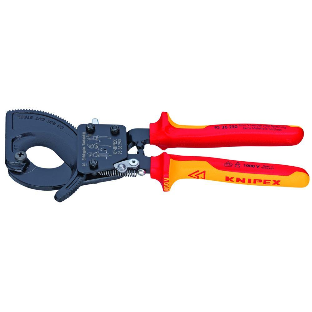 Knipex 10 in. Ratcheting Cutters with Comfort Grip