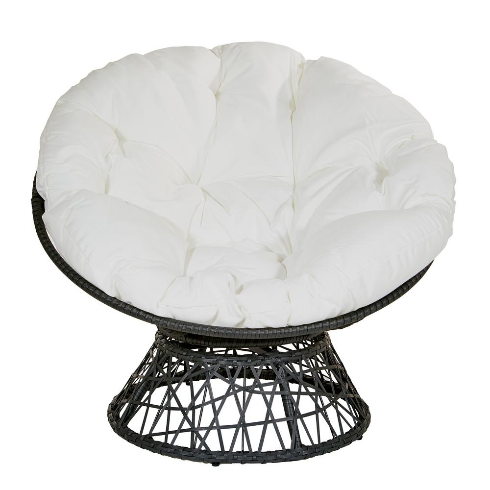 Awesome Osp Home Furnishings Papasan Chair With White Round Pillow Uwap Interior Chair Design Uwaporg