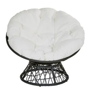 Admirable Osp Home Furnishings Papasan Chair With White Round Pillow Cjindustries Chair Design For Home Cjindustriesco
