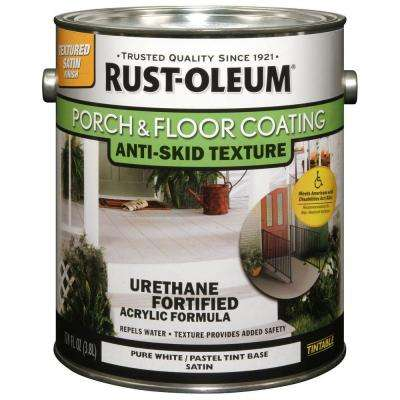 Superb 1  Gal. Pure White Anti Skid Satin 50 VOC Exterior Solid Stain (