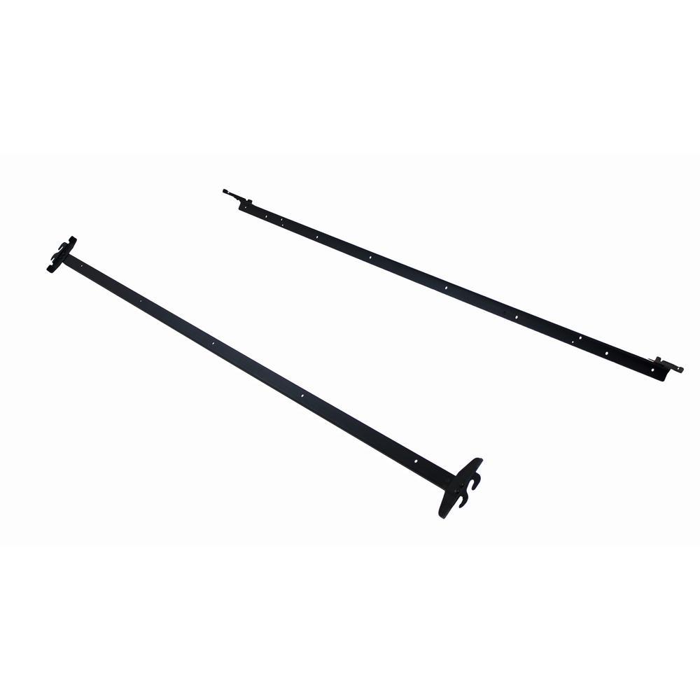 Black Adjustable Bedframe Headboard Footboard Hook on Bed Rails