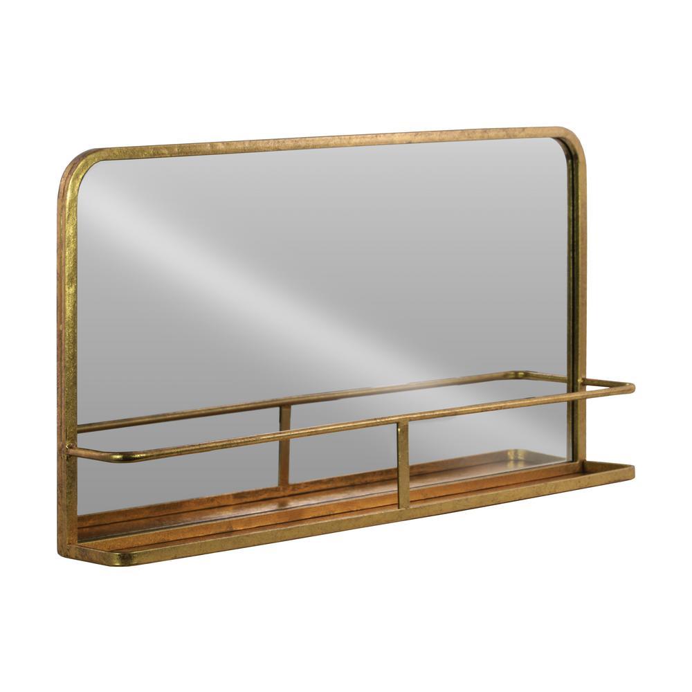 Rectangular Gold Metallic Wall Mirror