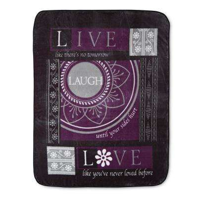 Hi Pile Laugh 60 in. x 80 in. Oversize Throw