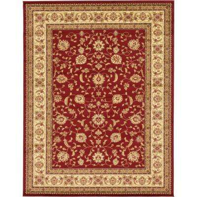 Agra Red 10 ft. x 13 ft. Area Rug