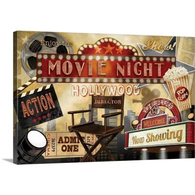 "24 in. x 16 in. ""Movie Night"" by Conrad Knutsen Canvas Wall Art"