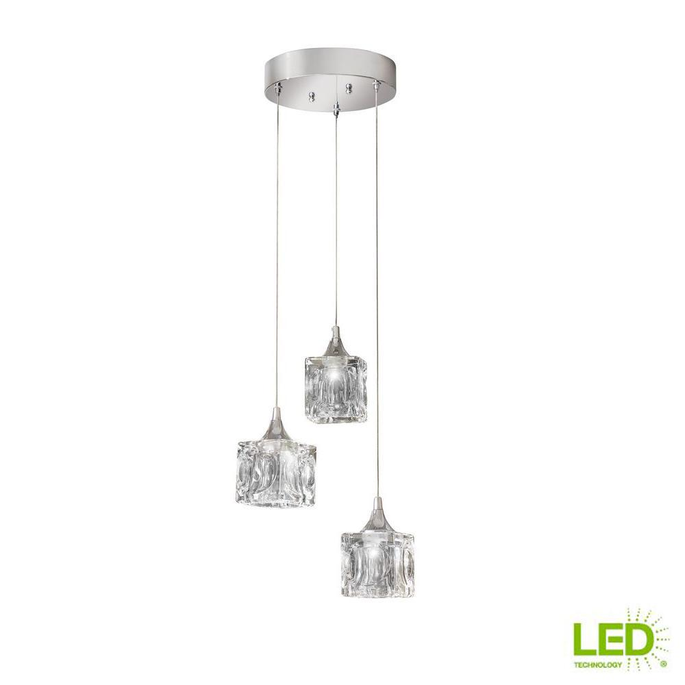 a98e5ff4553 Home Decorators Collection 3-Light Polished Chrome Integrated LED ...
