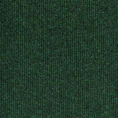 Elevations - Color Leaf Green Ribbed Indoor/Outdoor 12 ft. Carpet