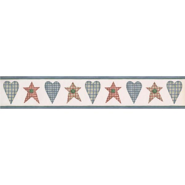 Green Stars Shapes Prepasted Wallpaper Border Roll