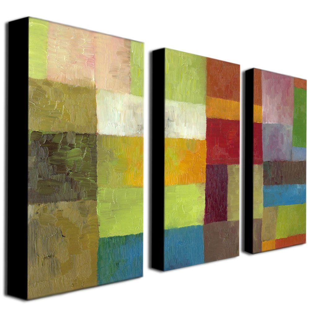 Abstract Color Panels IV by Michelle Calkins 3-Panel Wall Art Set