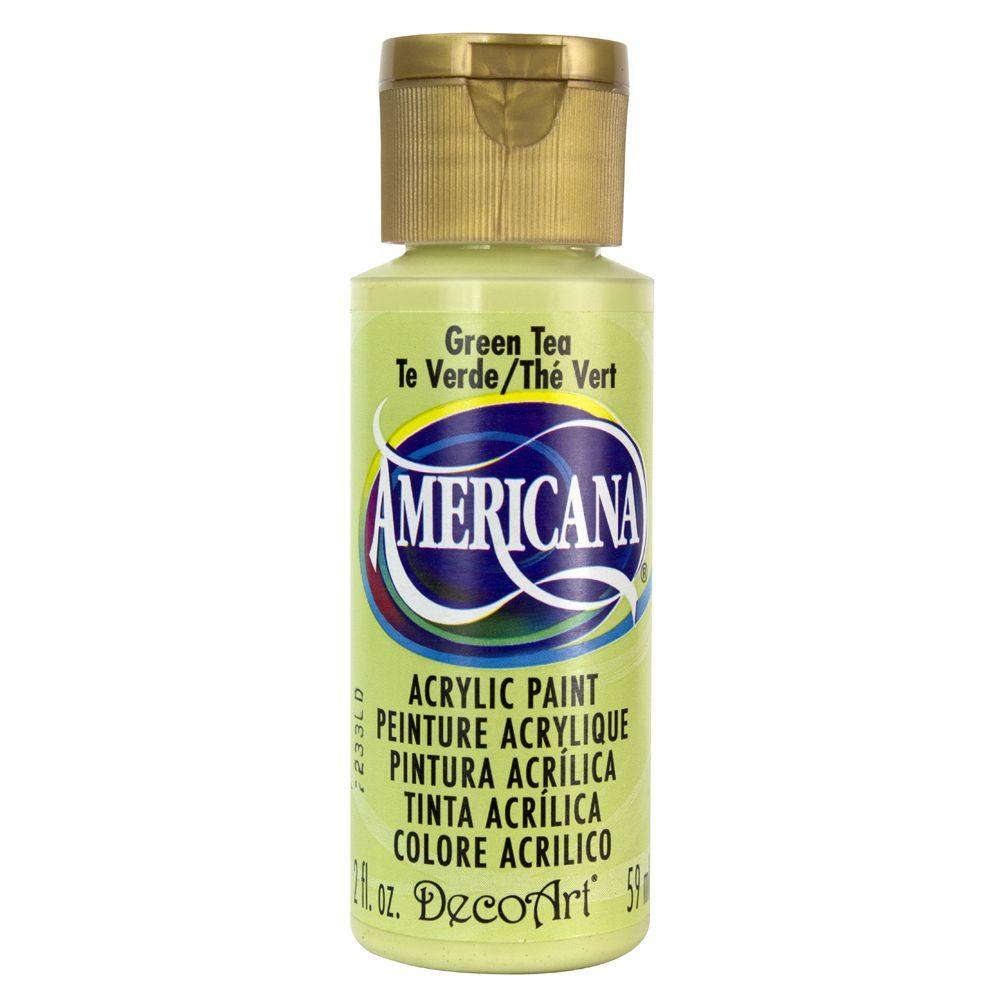DecoArt Americana 2 oz. Green Tea Acrylic Paint