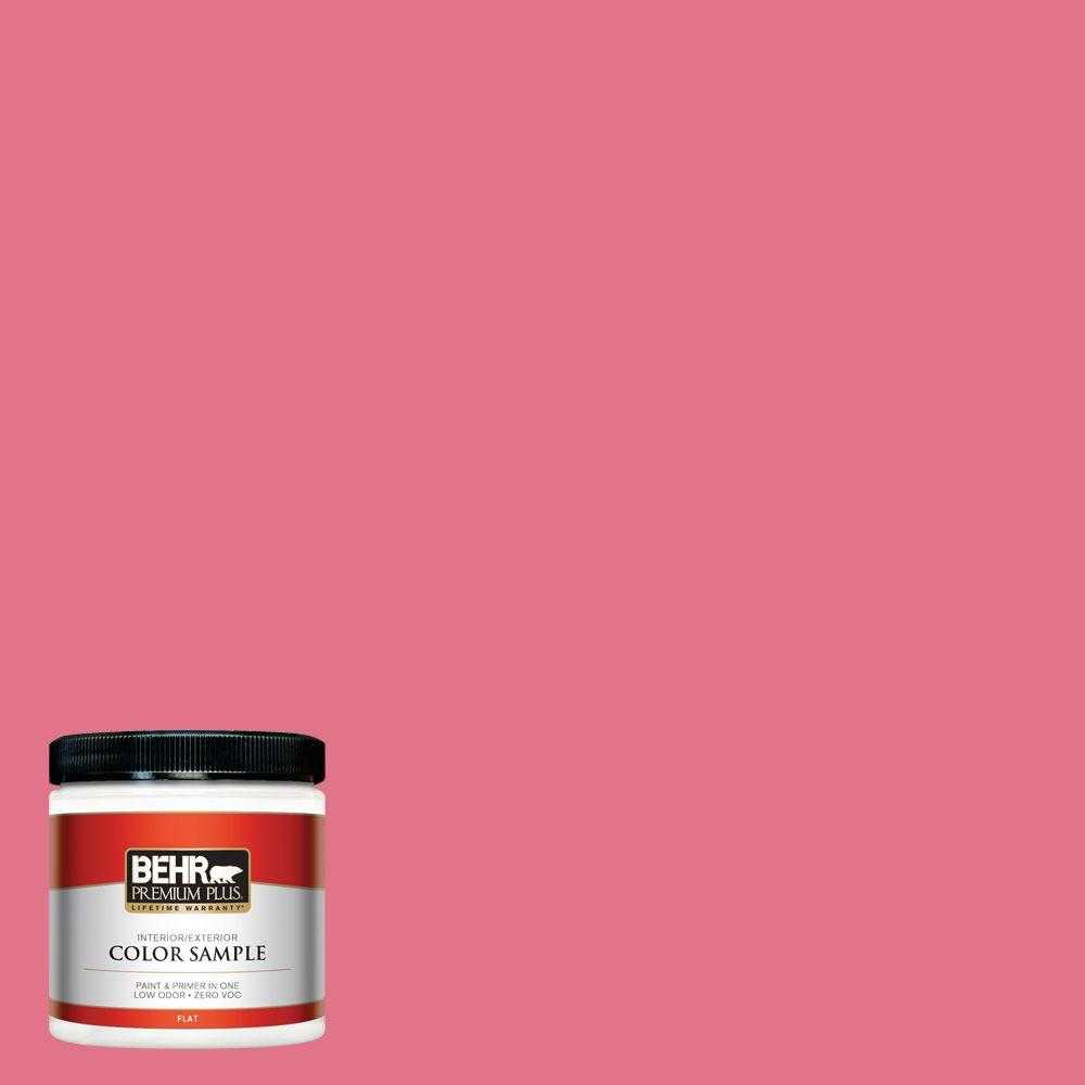 BEHR Premium Plus 8 oz. #120B-6 Watermelon Pink Flat Interior ...