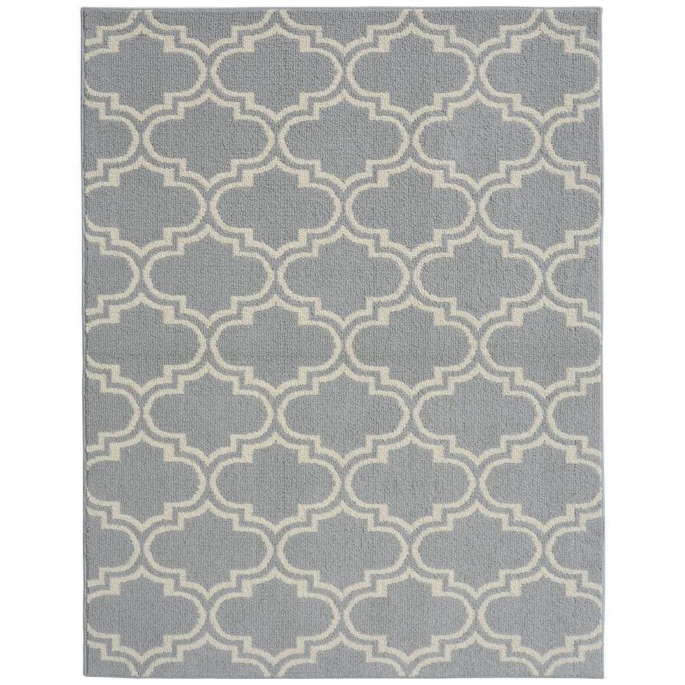 Garland Rug Silhouette Silver Ivory 8 Ft X 10 Ft Area Rug Ll060a096120d1 The Home Depot