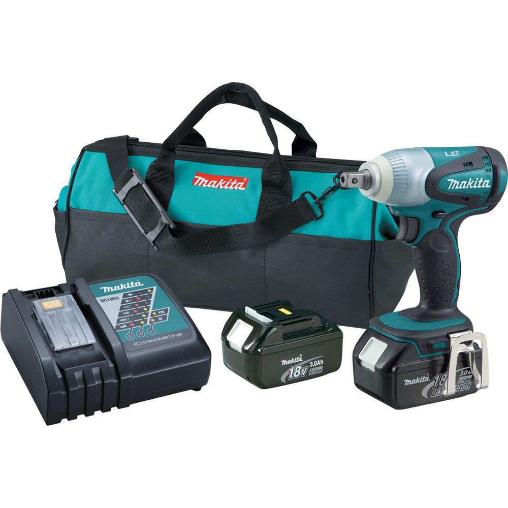 Makita 18-Volt LXT Lithium-Ion Cordless 1/2 in. Impact Wrench Kit