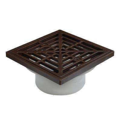 2 in. PVC Square-Head General Purpose Drain in Oil-Rubbed Bronze
