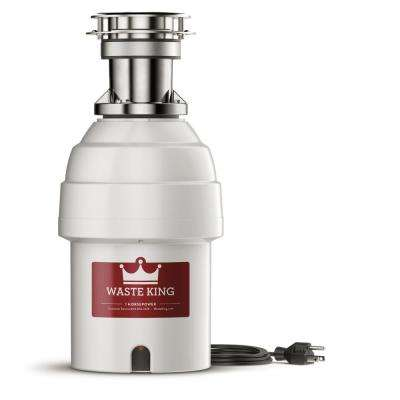 Legend Series 1 HP Batch Feed Garbage Disposal with Power Cord