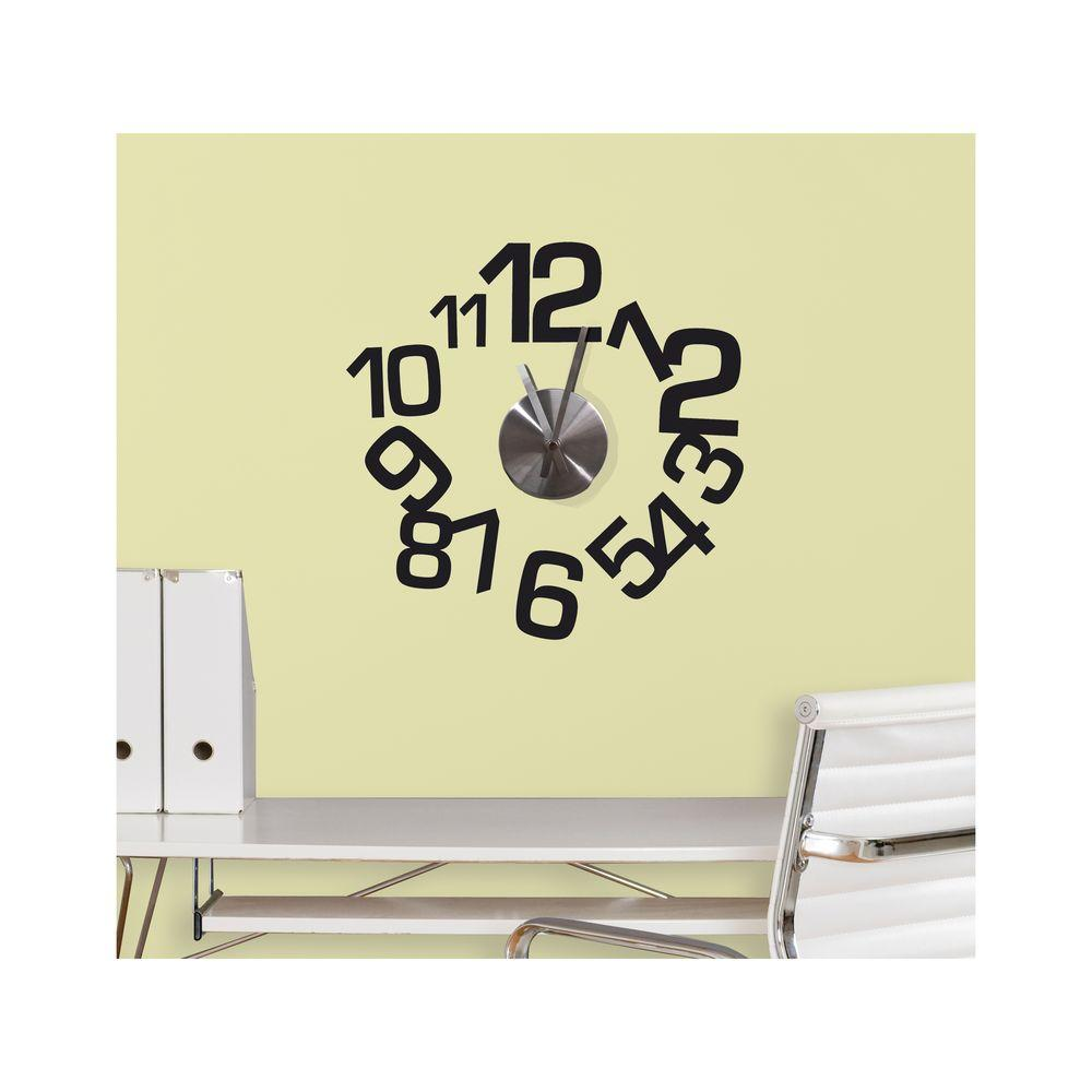 3.75 in. x 11.25 in. Contemporary Clock Peel and Stick Wall