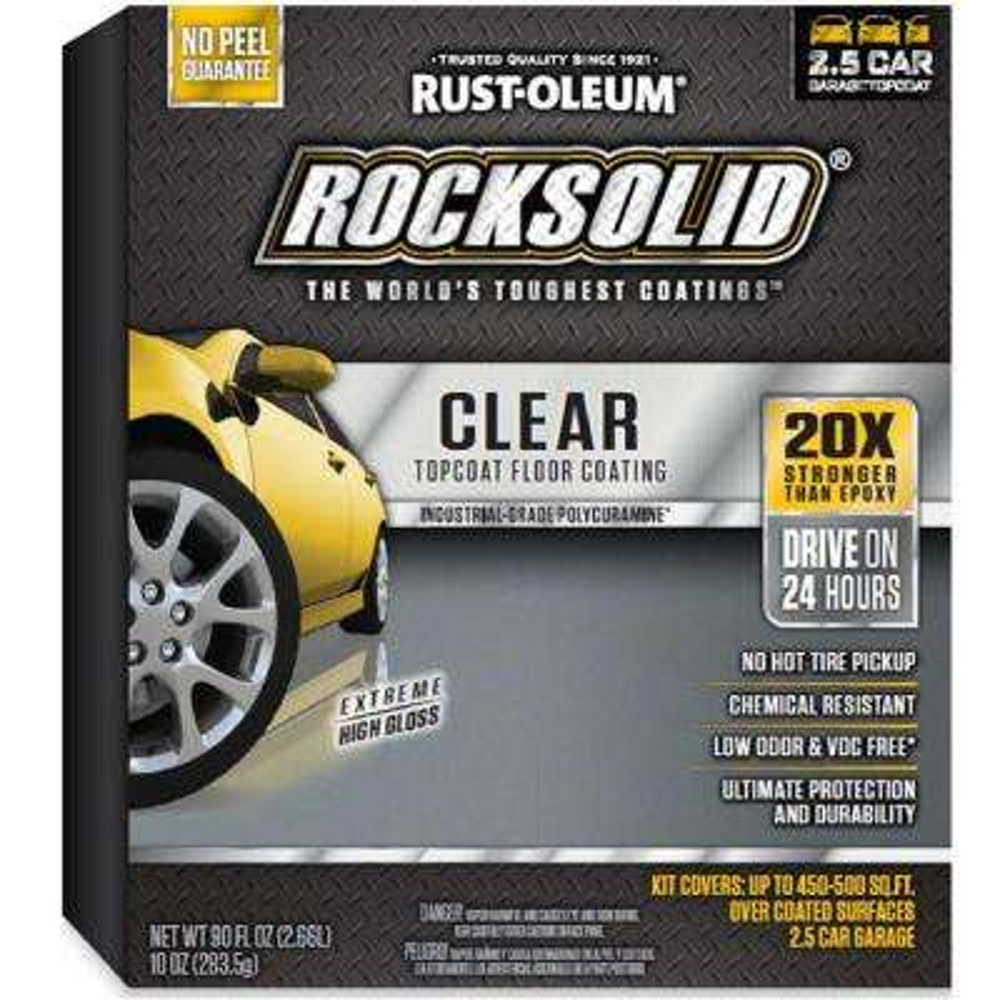90 oz. Clear Polycuramine Top Coat Garage Floor Kit