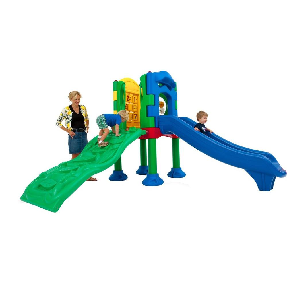 Ultra Play Discovery Center Commercial Playground 1 Deck without Roof Anchor Bolt Mounting