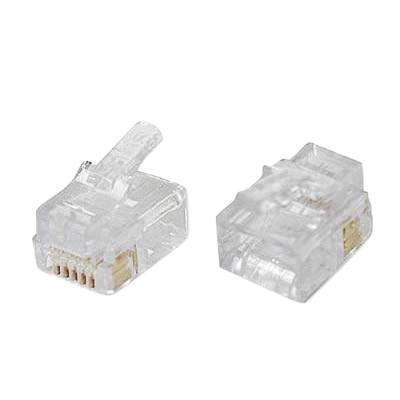 100026C EZ-RJ12/11 Connectors Clamshell (50-Pieces)