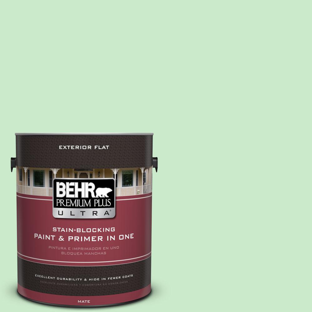 BEHR Premium Plus Ultra 1-gal. #P390-2 Chilled Mint Flat Exterior Paint