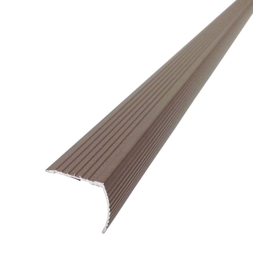 Tile transition strips transition strips the home depot spice fluted stair edging transition strip dailygadgetfo Choice Image