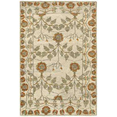 Oushak Natural/Rust 9 ft. x 12 ft. Indoor Area Rug