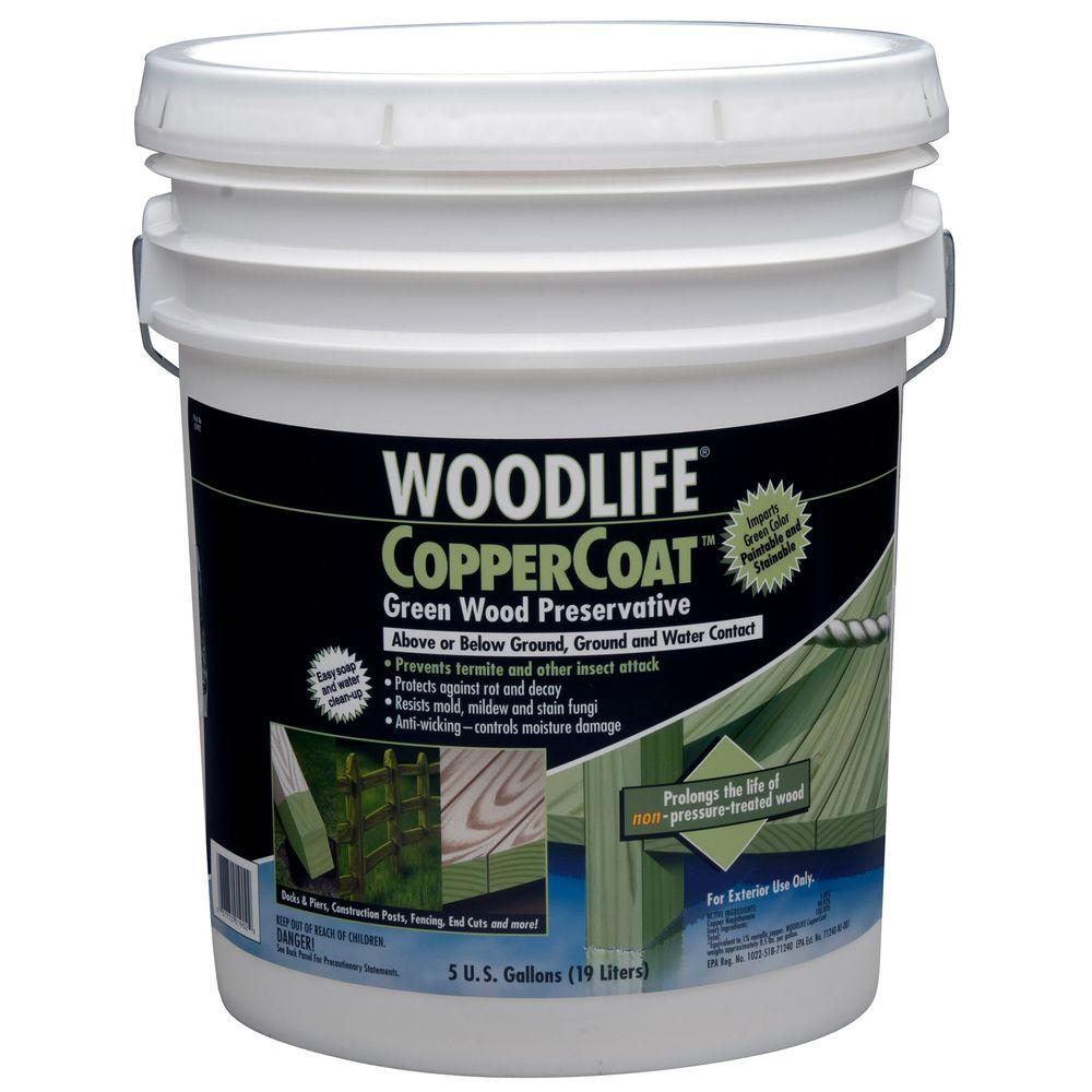 Wolman 5 gal. CopperCoat Green Below Ground Wood Preserva...
