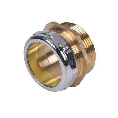 1.5 in. x 1.5 in. Male (Female Copper Sweat) Ground Joint Part Waste Connector