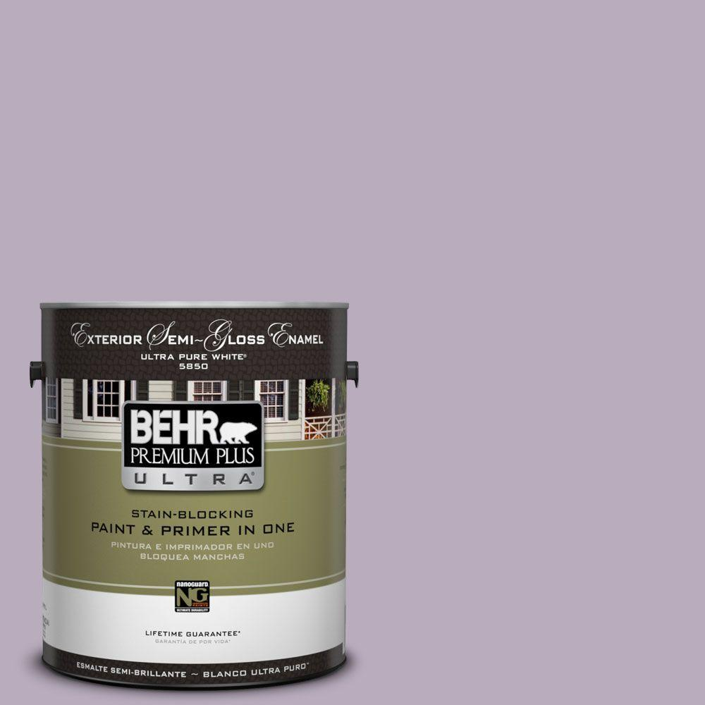 BEHR Premium Plus Ultra 1-gal. #HDC-SP14-12 Exclusive Violet Semi-Gloss Enamel Exterior Paint